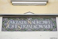 На фасаді будівлі є напис польською мовою, що в перекладі означає «заклад науковий Софії Стшалковської»
