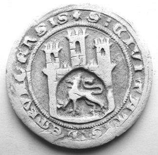 Печатка Львова з документу 1359 року