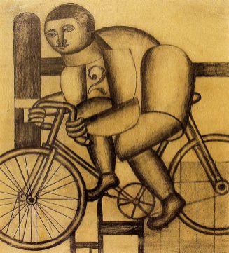 Генріх Штренг (Марк Влодарський), Велосипедист, 1925р. апір, олівець