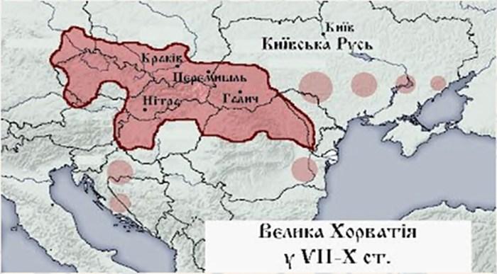Терени держави Хорватів