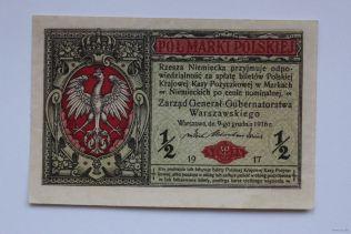 1/2 польської марки 1916 року