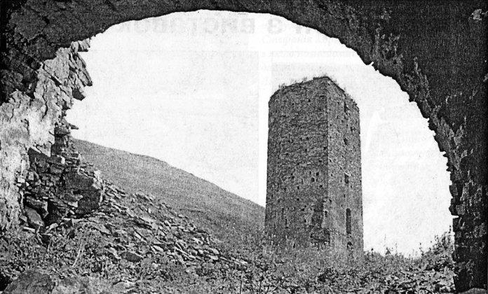 Юліан Дорош. Вежа, Раковець, сер. 1950-х рр. (Галицька брама. – 2009. – № 6)