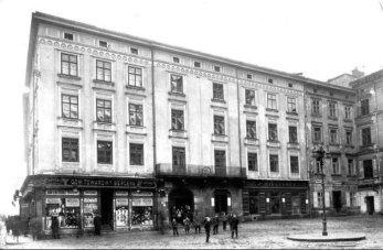 Львів, будинок на площі Яворського, 1 на початку ХХ століття