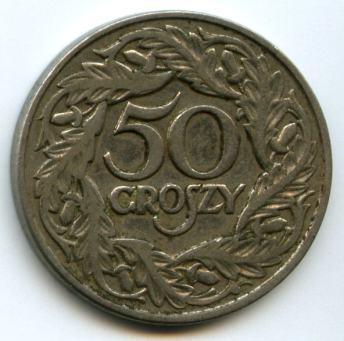 50 грошів 1923 року. Аверс