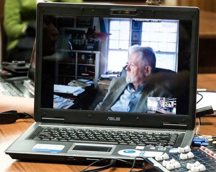 Григорій Грабович під час скайп-конференції. Фото: Ксенія Янко