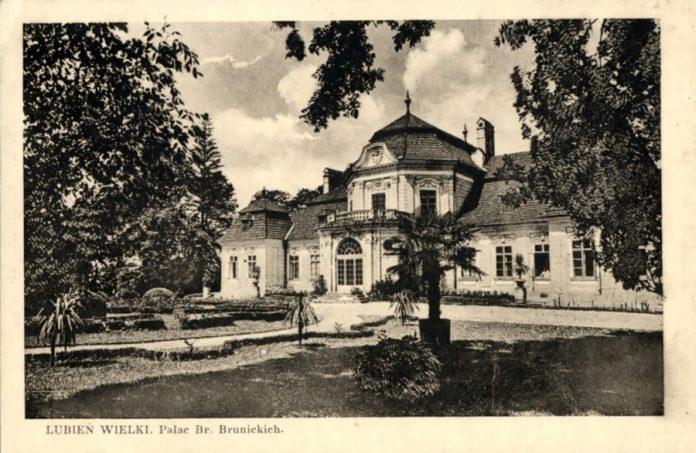 Поштівка. Палац Бруницьких, до 1939 р.