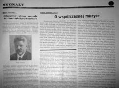 Шпальта № 4/5 польського журналу «Sygnały» за 1934 р. із статтею А. Рудницького