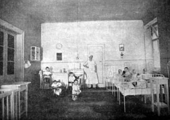 Спальня для найменших у дитячому садку в Празі, 1920-ті рр. (Нова Хата. – 1927. – Ч. 3)