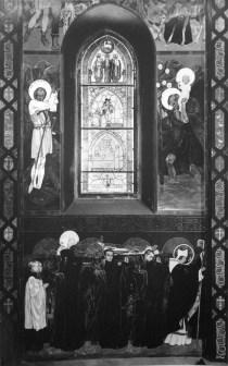 Вітраж «Містерія до поклоніння незнаного, але відчутного Бога» і фрески Яна Генрика Розена, фот.Волянськоїї Й.