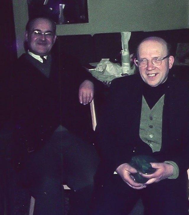 Отець Ян Ярош (праворуч)