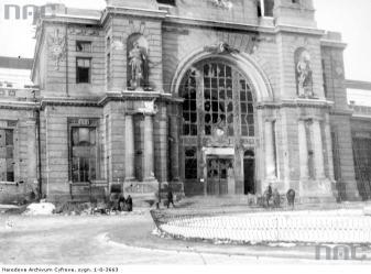 Вокзал після боїв. Фотографія 1918 року