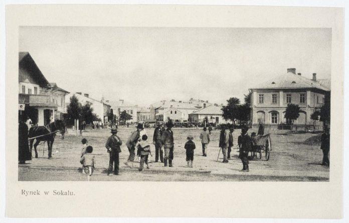 Сокаль, ринок. Фото 1906 року