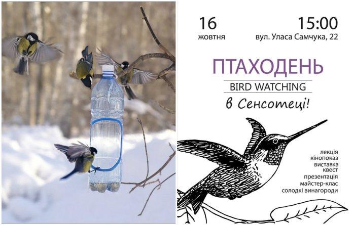 Сенсотека запрошує на Птаходень (Bird watching) в Стрийському парку