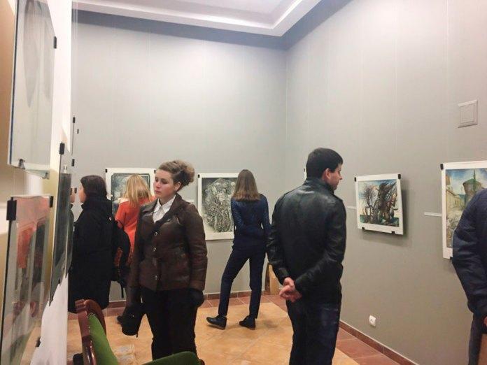 На виставці «Рік без генія» у галереї «Зелена канапа», 9 жовтня 2016 р.