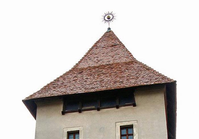 Львів, Дах вежі Глинянської брами з боку внутрішнього дворику