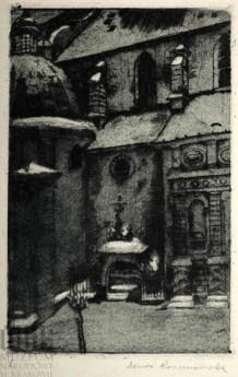 Ванда Коженьовська. Латинська катедра, 1917 р.