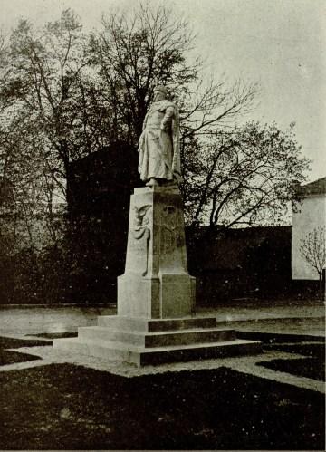 Пам'ятник королю Яну Собєському в Жовкві. Фото 1903 року