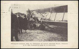 Освячення літака, купленого на кошти 11 гімназії міста Львова. Фото 1930 року