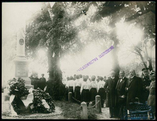 Відкриття колони Тадеуша Костюшки в Жовкві. Фото 1925 року