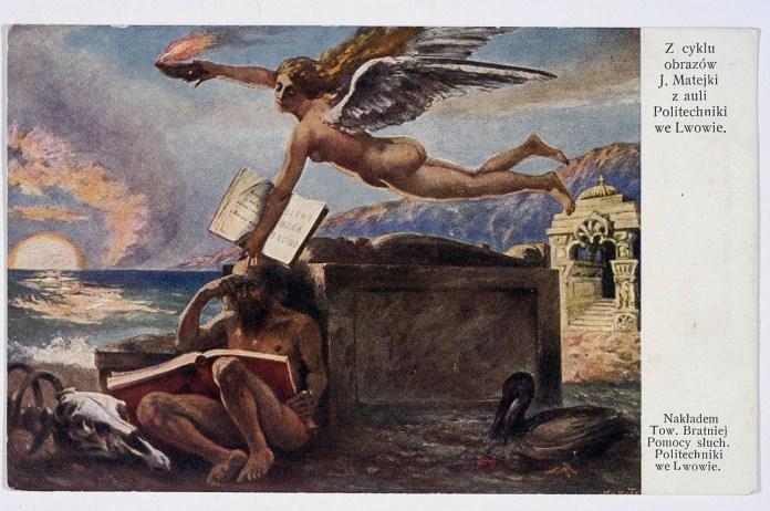 Репродукція полотна «Божественне натхнення» у серії листівок 1910 року