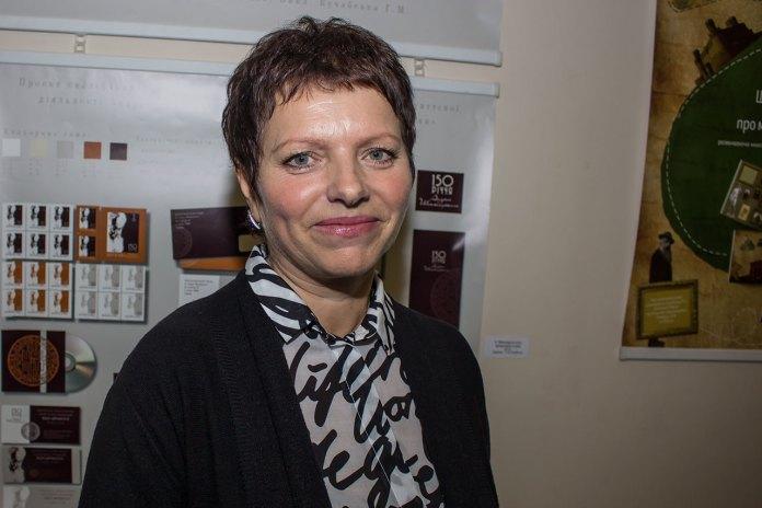 Завідувач відділом графічного дизайну, член Спілки дизайнерів України Ганна Михайлівна Кучабська