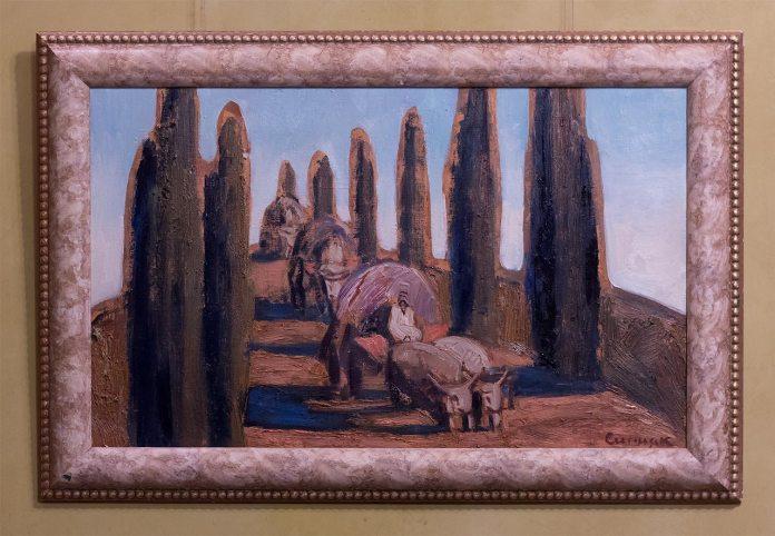 Експозиція виставки живопису Петра Сипняка «Чумацький шлях»