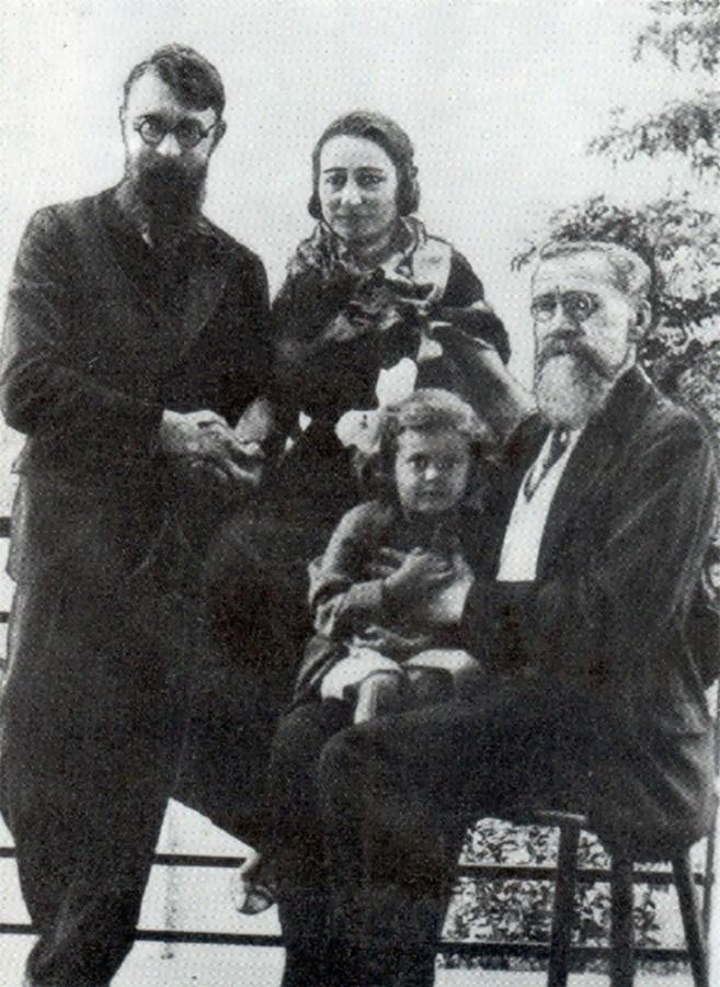 Юрій Морачевський, Марія Морачевська, їхня донька Софія та Вацлав Морачевський у 1934 році