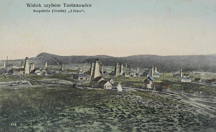 Нафтові вишки в Бориславі, 1913 рік