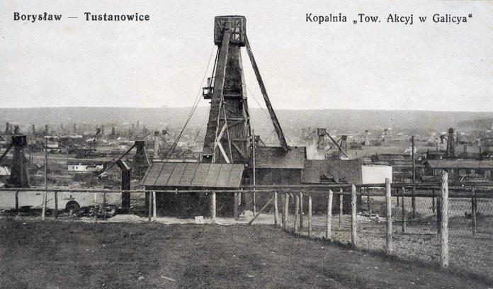 Нафтові вишки в Бориславі, 1915 рік