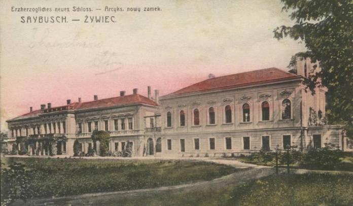Палац Габсбургів-Лотрінгенів у Живці поблизу Кракова наприкінці XIX ст.