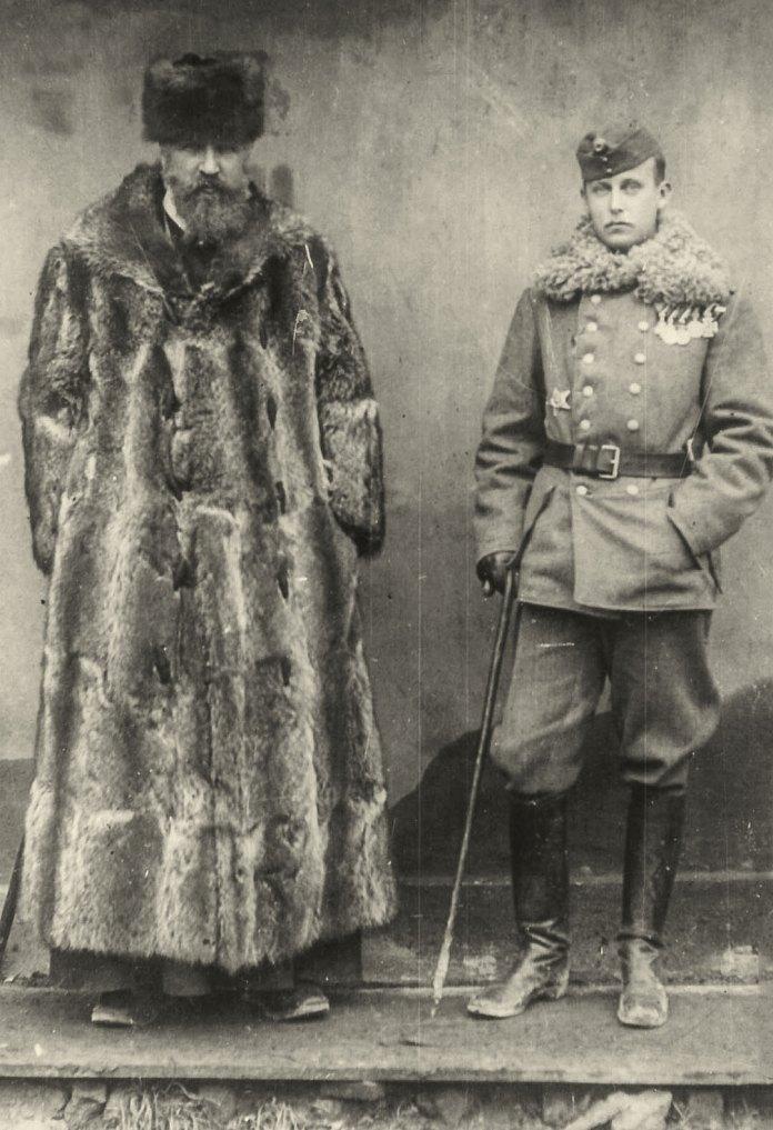 Вільгельм Габсбурґ (праворуч) і греко-католицький митрополит Андрей Шептицький, 1910-і роки