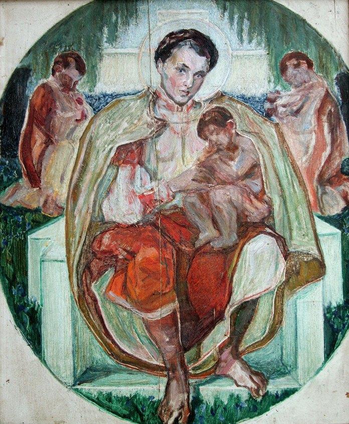 Олекса Новаківський. Начерк до однойменної поеми Т.Шевченка «Марія», 1914 р. Дошка, олія.