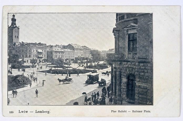 Кінний трамвай на площі Галицькій, 1906 р.