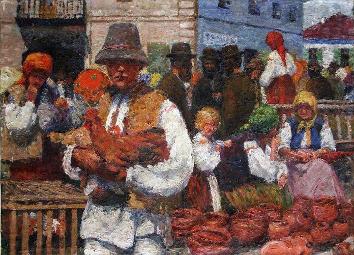 Олена Кульчицька. Ярмарок у Косові. 1904-1908 рр. Полотно, олія.