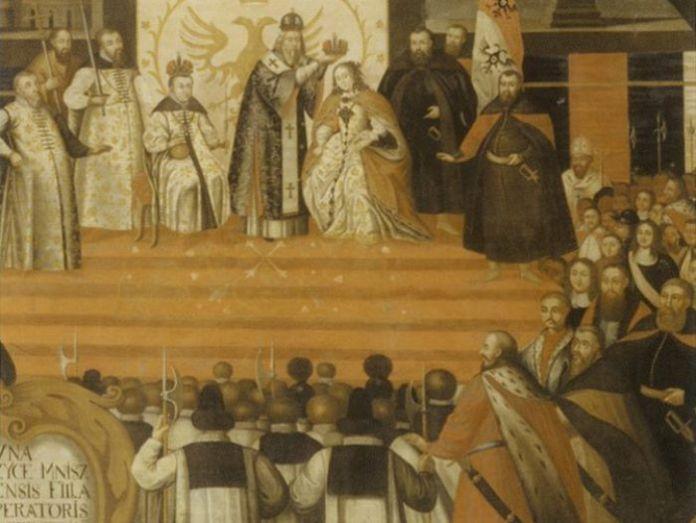 Коронація Марини Мнішек в Успенському соборі