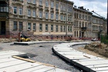 Ремонт перехресть вулиць Мечнікова та Личаківської, фото 25 червня 2017 року