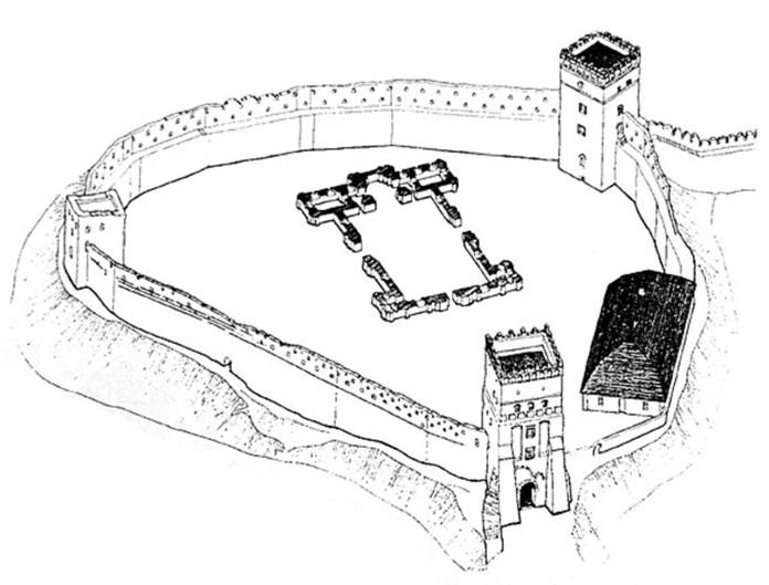 """Фундаменти нового собору, який так і не збудували. Зображення з книги """"Луцький замок в історії України"""""""