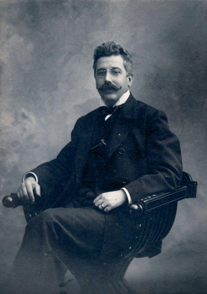 Чезаре Річчоні (1868-1936). Буенос-Айрес, 1907р. Фото з автографом Осипі і Карлу Бандрівським.