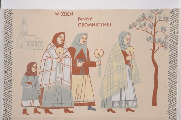 Експозиція виставки «Великопольський обрядовий рік у творах Мар'яна Шварца і Яніни Клопоцької»