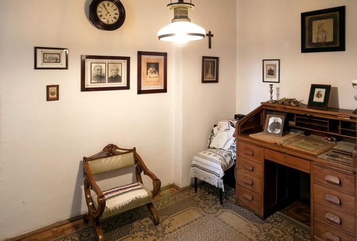 Фрагмент експозиції Музично-меморіального музею Соломії Крушельницької у Львові.