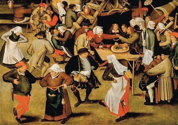 Пітер Брейгель Молодший. Весілля в коморі. 1622 р.