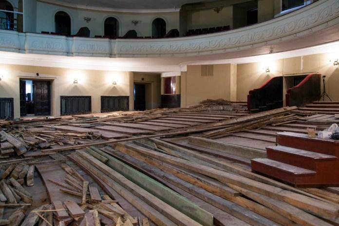 Ремонтні роботи у глядній залі театру імені Марії Заньковецької