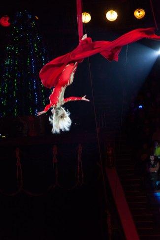 Гімнастка на полотнах артистка Юлія Новікова