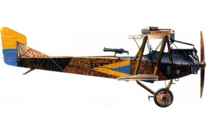 """Дмовісний літак-розвідник """"Hansa-Brandenburg C. I"""" зі складу 1-ого летунського полку Галицької армії, летовище в Красне, березень 1919 року"""