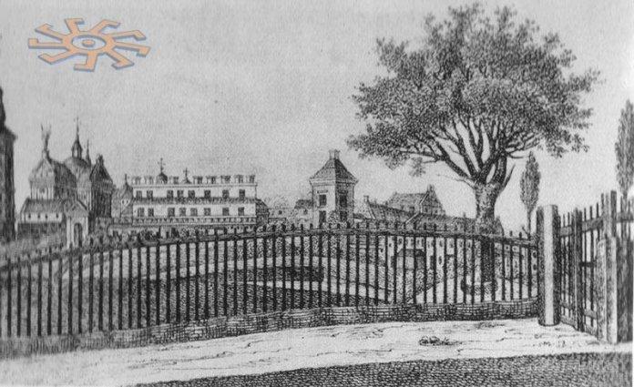Вид Жовкви з заходу, 1847 рік
