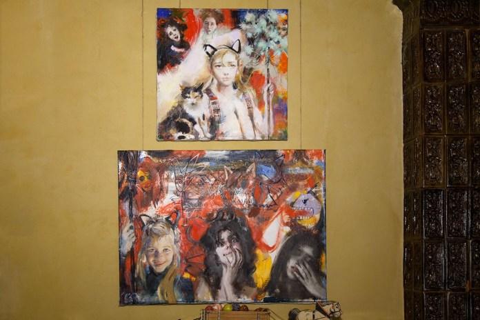 """Експозиція виставки живопису Катерини Білетіної """"Берлінські ремінісценції"""""""