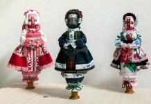 Експозиція виставки мистецького проекту Ірини Сорокіної «EthnoЛялька»
