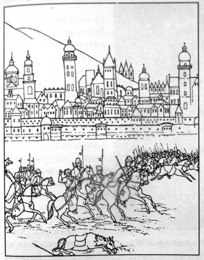 Козаки під Львовом у 1655 році. Фото з https://zbruc.eu/node/43547
