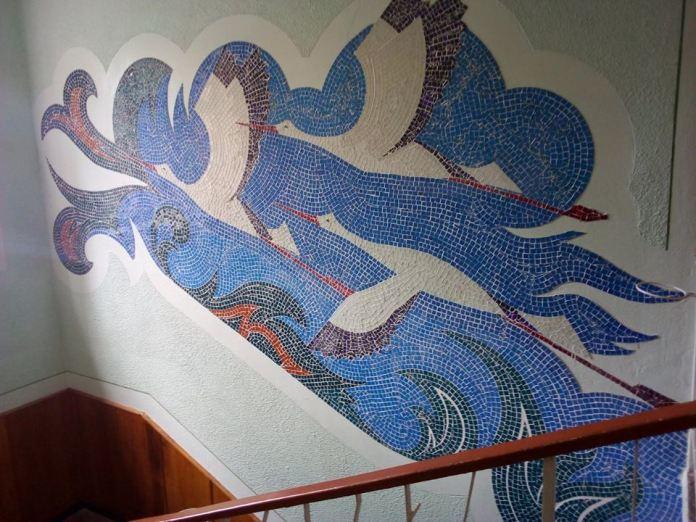 Мозаїка в Луцьку на вулиці Кравчука. Автор невідомий, 1980-ті