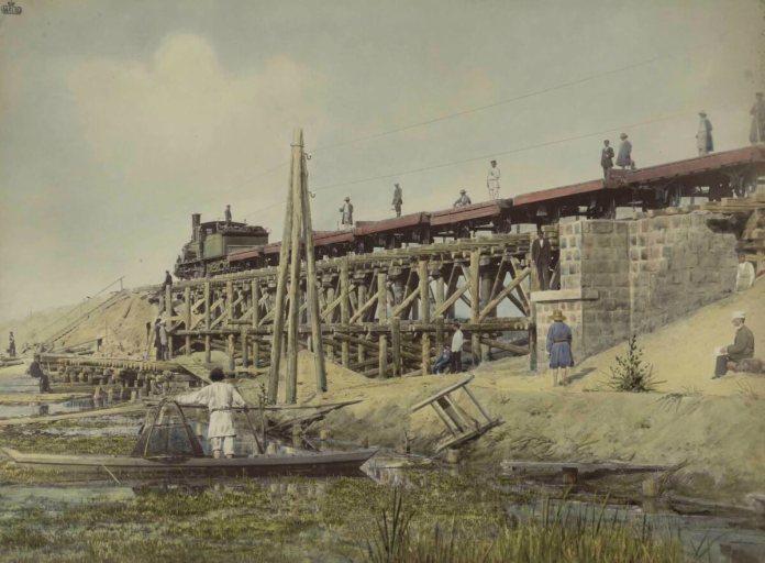 Будівництво Поліської залізниці. Фотограф Конрад Бандель, 1880-і рр.